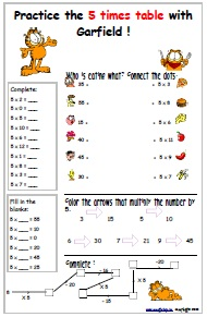 math worksheet : free printable worksheets for multiplication : 5 Multiplication Table Worksheet